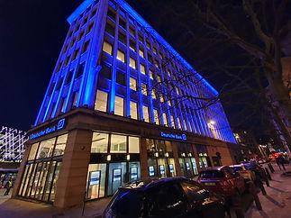 Deutsche Bank Eclairage Façade