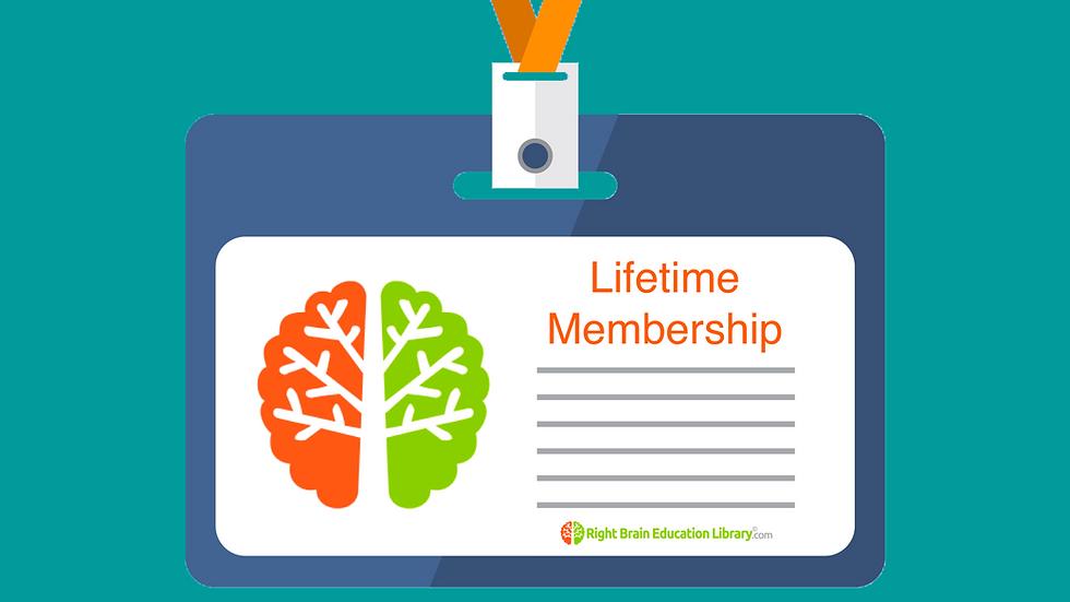 Lifetime Right Brain Education Library.Com Membership