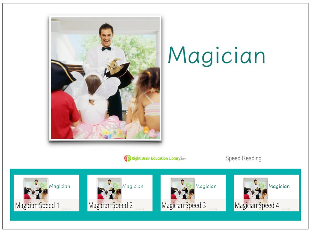 speed reading flash cards