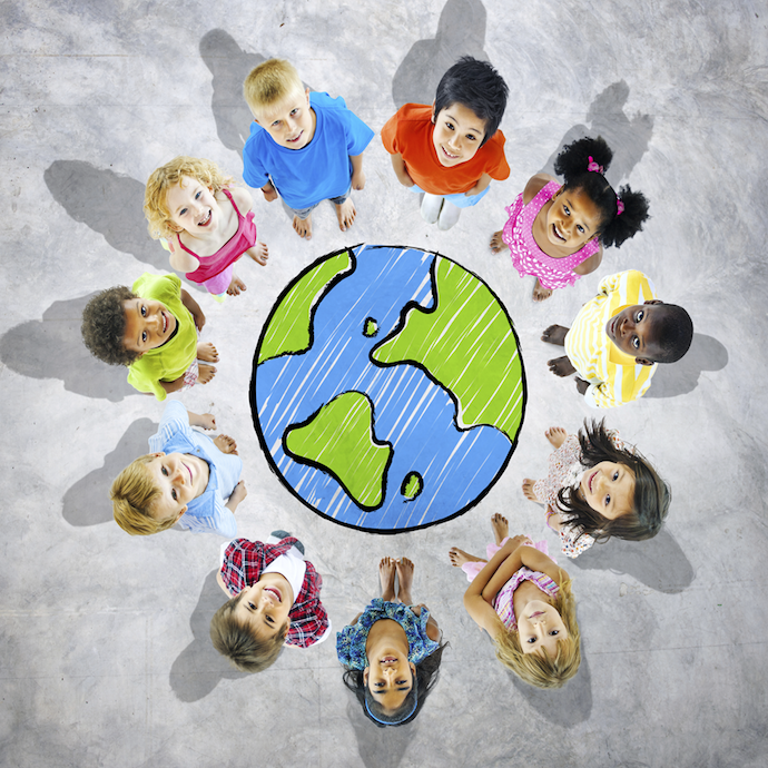 Teaching children using right brain education method