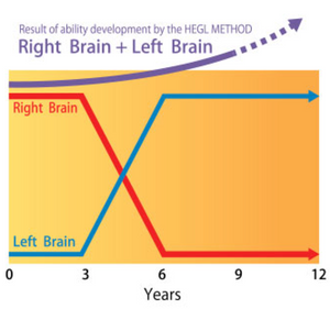 Right and Left Brain Abilities from 0 to 12 years old by Heguru Method