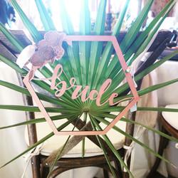 Hexagon Bride Chair Sign