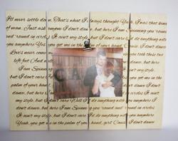 Wedding Song Photo Frame