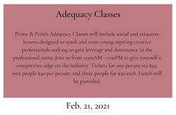 Adequcy Class