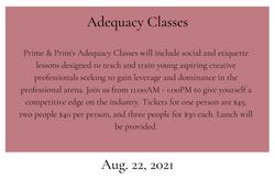 Adequacy Class