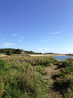 The beach closest to our self catering holiday cottages on Bryher, Isles of Scilly
