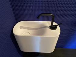 Pose d'un lave-mains