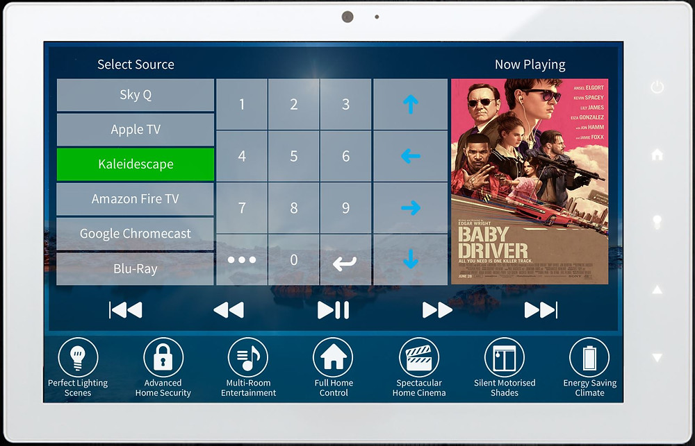 User-friendly smart remote control application for access to audio and visual systems by Intellicasa