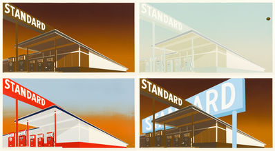 Ed Ruscha Standard Station ii Mocha Stan