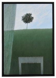 Robert Kipness Window with Curtains & Hi