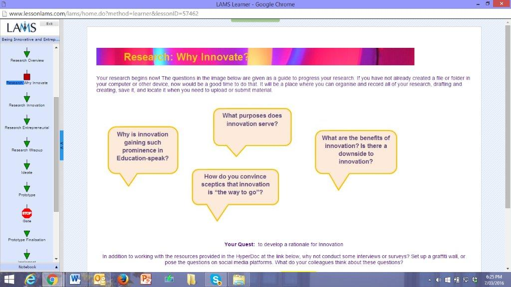 research: why innovate