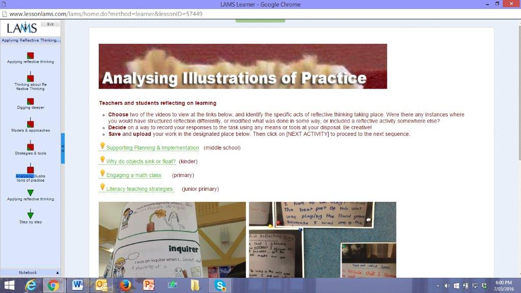analysing illustrations of practice