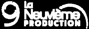 Logo 9e Production - Tout Blanc, Sans fo