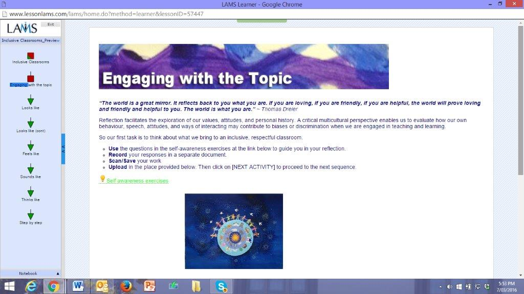 engaging with the topic