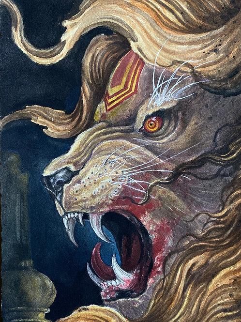 Narasimba - Watercolour