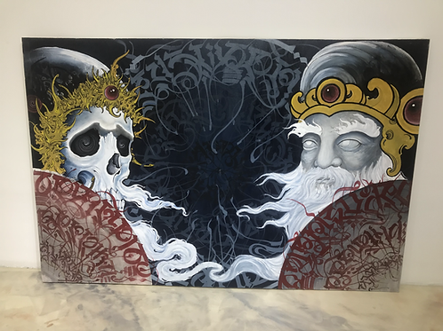 Mirrors of Reflection - Acrylic on canvas
