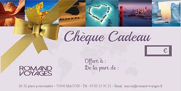 CHEQUE CADEAU ROMAND VOYAGES