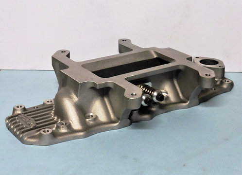 Ford Flathead 471 supercharger intake manifold with blow off valve