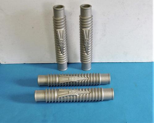 Ford Flathead finned aluminium coolant pipes