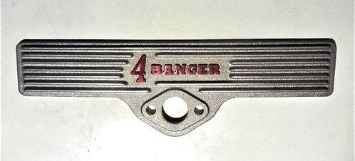 Model A Ford 4 Banger finned aluminium sideplate for left side