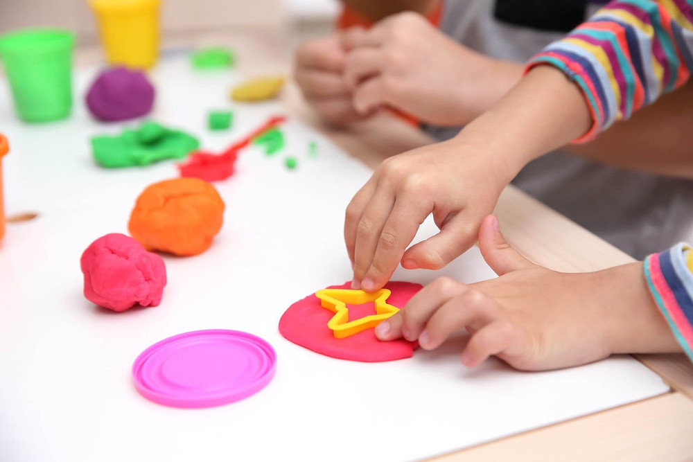 Experience the fun of homemade play doh with your children!