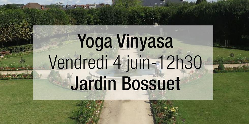 Yoga vinyasa  au jardin Bossuet