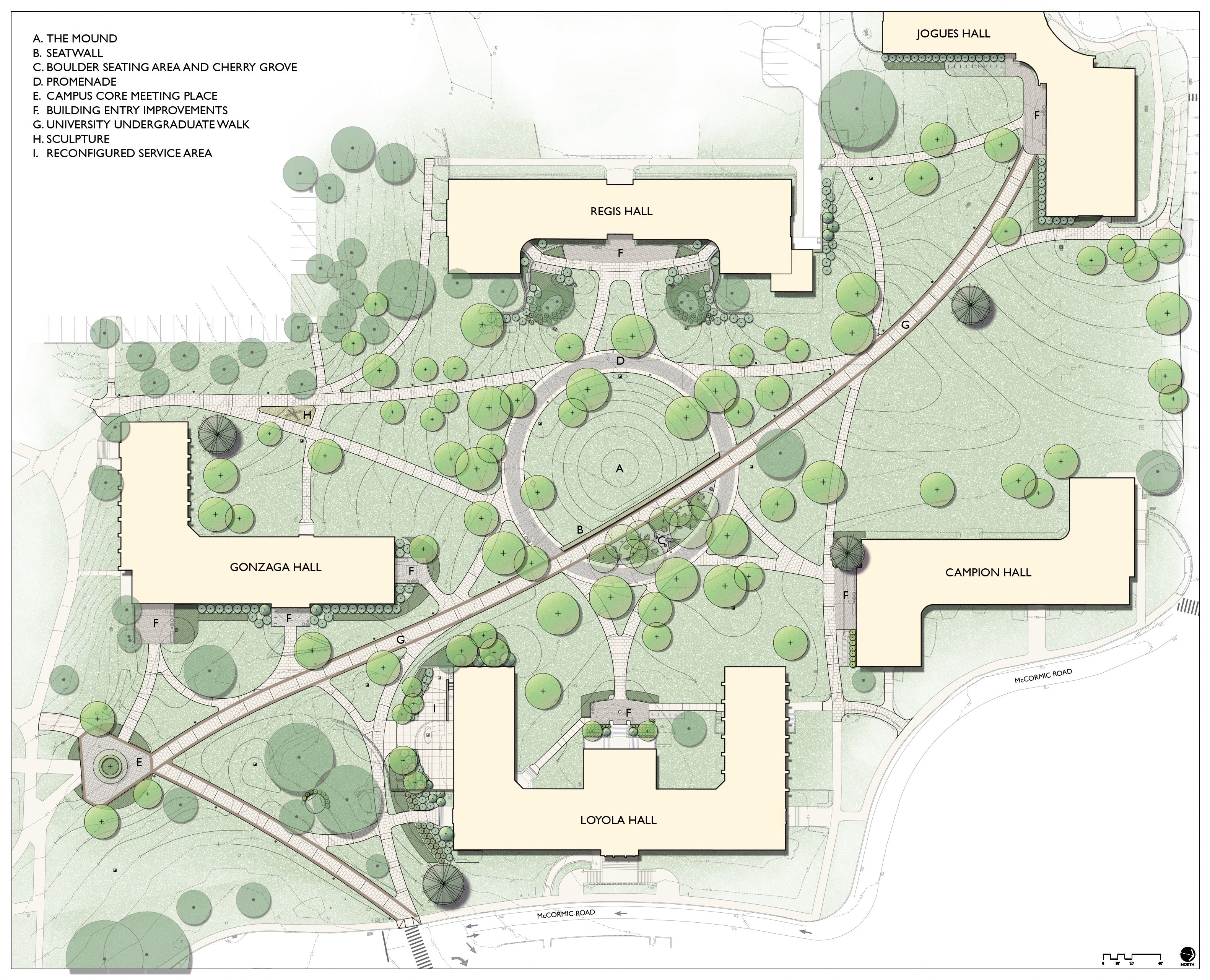 Fairfield University - Residential Quad | Landscape ...