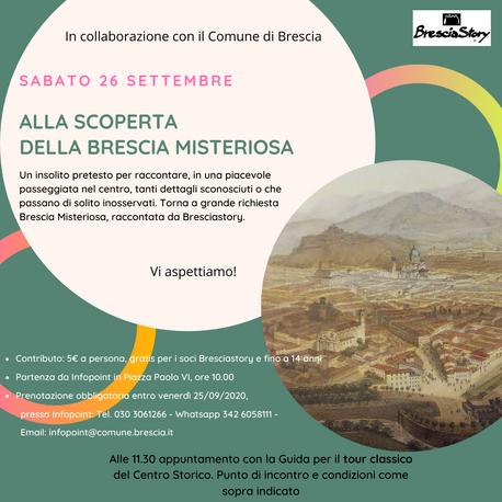 Brescia Misteriosa: scoprila con noi sabato 26 settembre 2020
