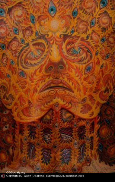 Alex Grey Back Close Up