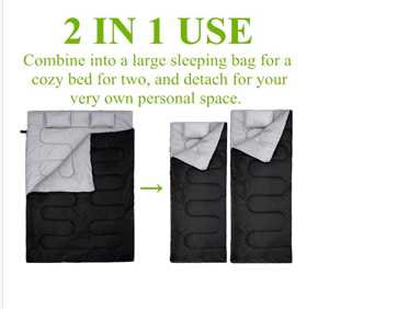 2 into 1 sleeping bags