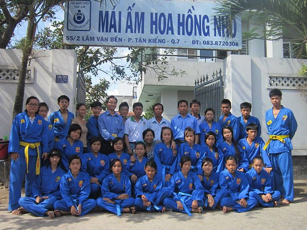 Kết quả hình ảnh cho CLB Vovinam mái ấm Hoa Hồng Nhỏ, Q.7: