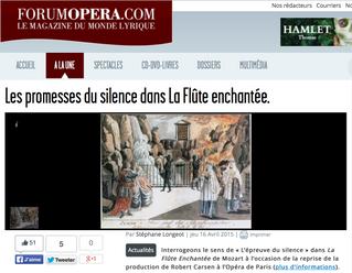 Mythe & Opéra rejoint l'équipe de rédaction de forumopera.com