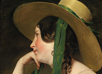 Friedrich von Amerling Jeune femme au ch