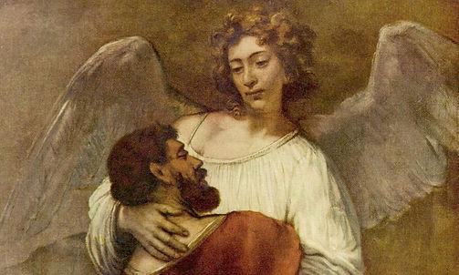 Rembrandt Lutte avec l'Ange 1659 - Mythe