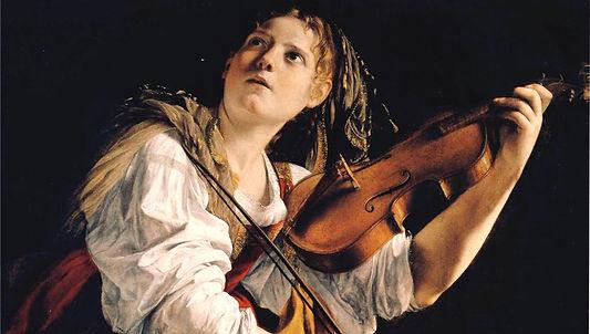 Orazio Gentileschi Jeune femme jouant du