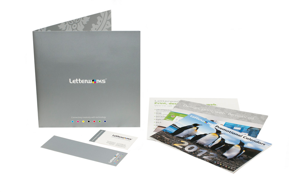 Letterworks brand and promotional material