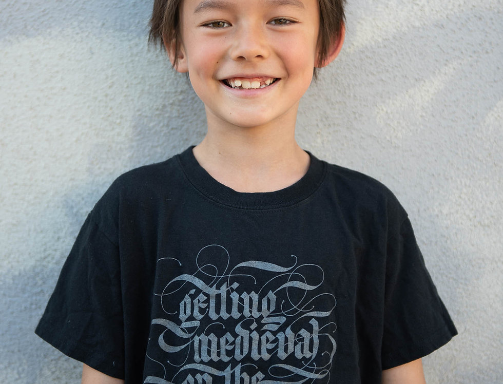Getting Medieval on the Patriarchy Big Kids Tee (Age 5 and up)