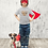 Thumbnail: Hanzimals Chinese Zodiac Year of the Dog (狗) Kids T-shirt (2-6yo)