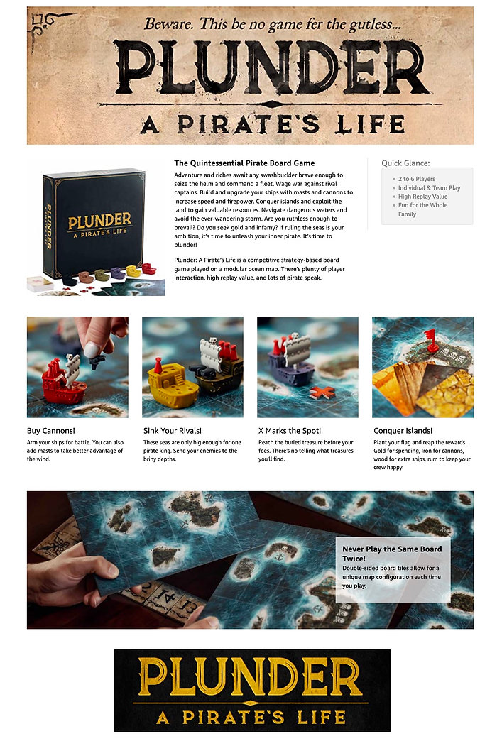 Plunder board game From the manufacturer