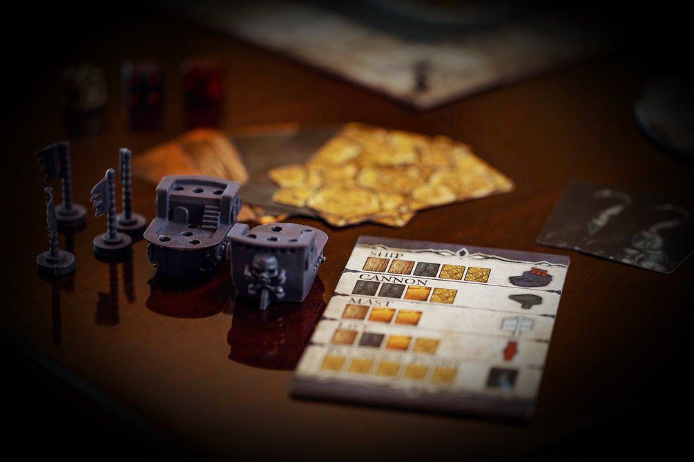 plunder board game components