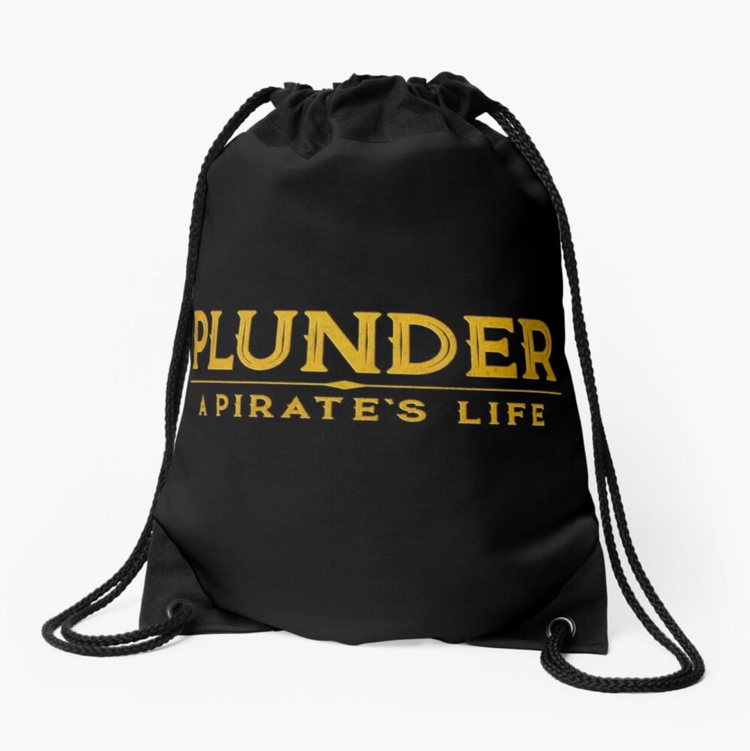 plunder board game drawstring bag