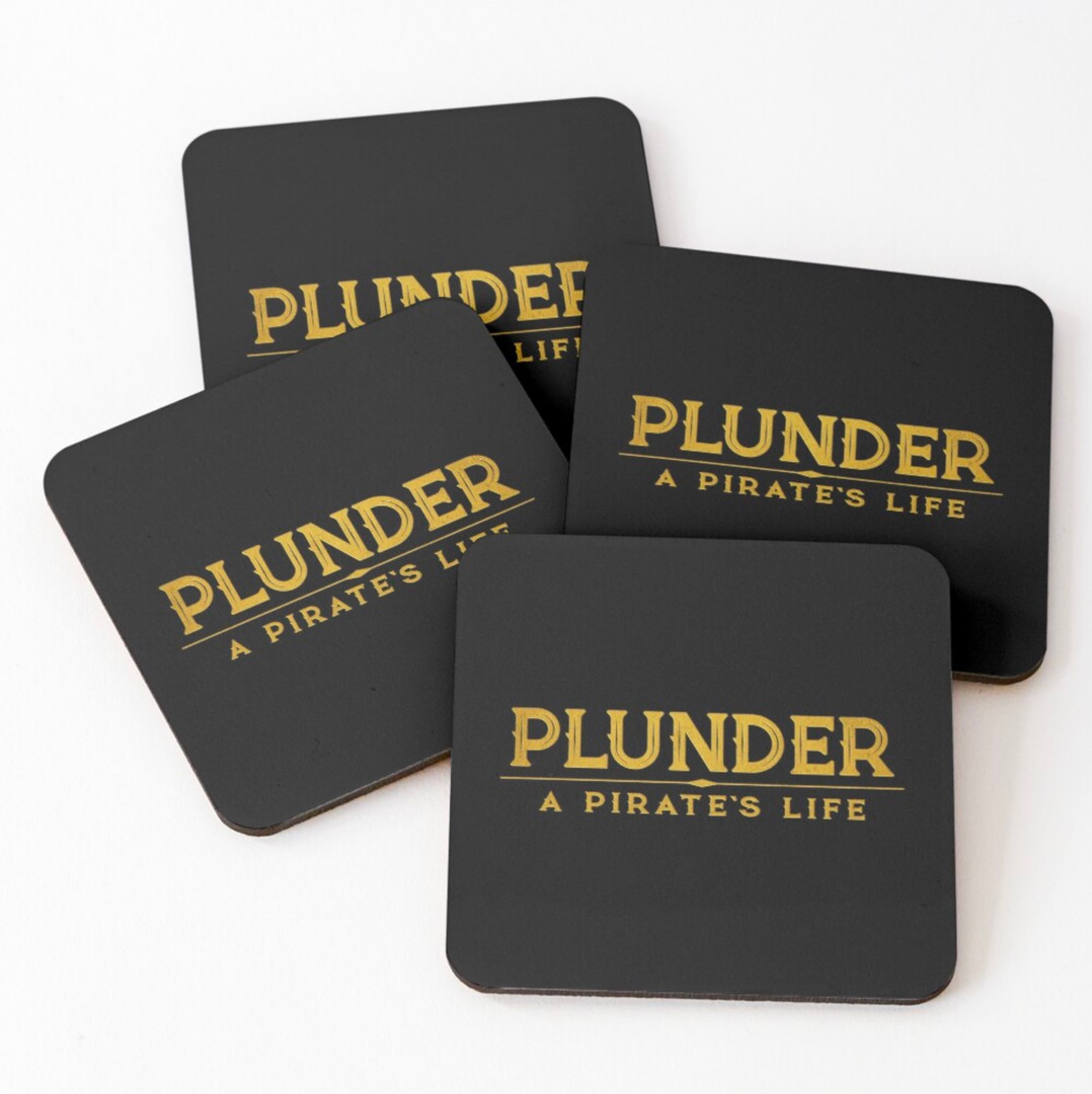 plunder board game coasters