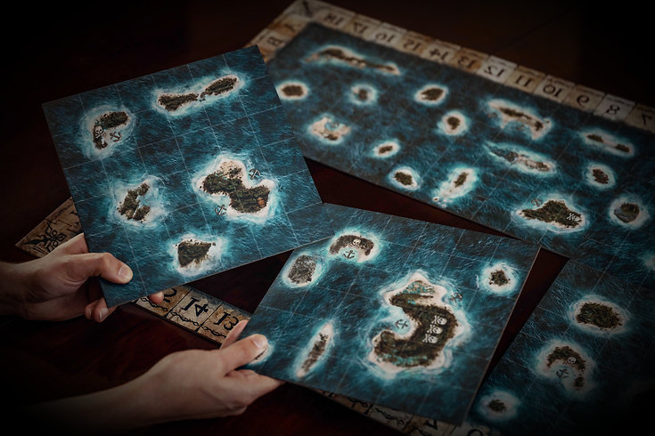 Plunder pirate board game map tiles