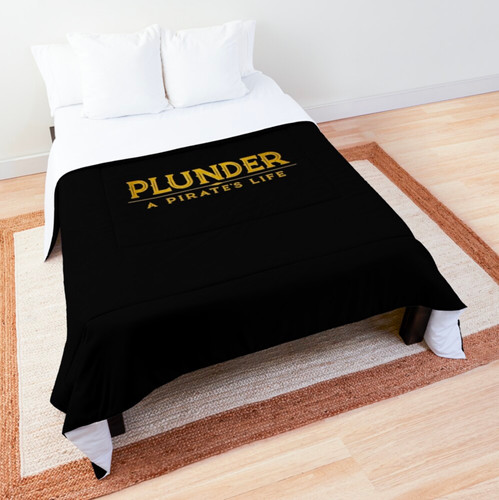 plunder pirate's life bed comforter
