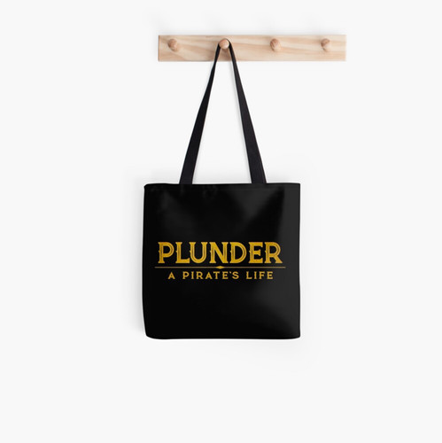 plunder a pirate's life tote bag