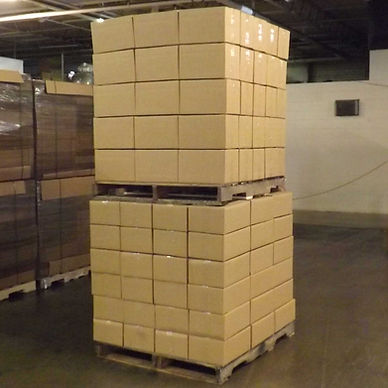 double stacked pallets