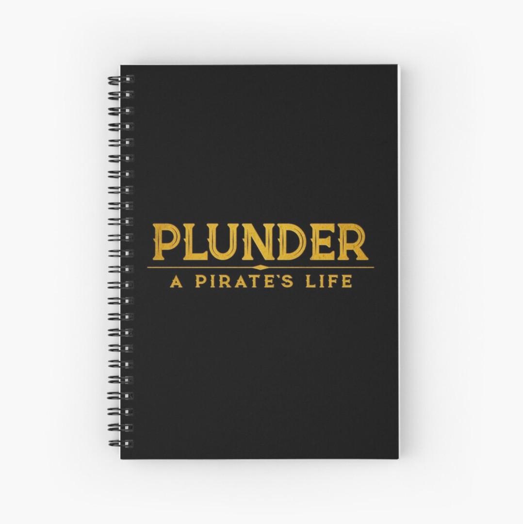 plunder board game notebook