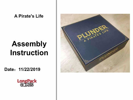 Plunder pirate's life assembly instructons