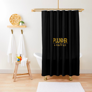 plunder board game shower curtain
