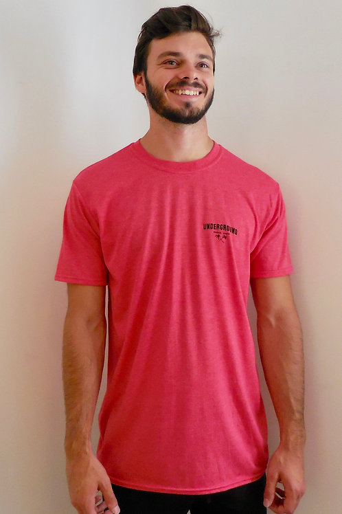 Classic tee in heather red